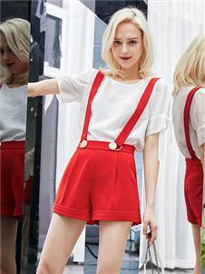 红雨鸶夏季新款背带半裙