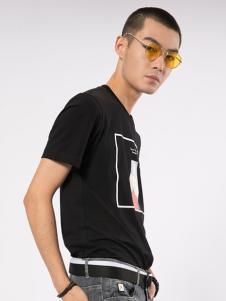 CAISEDI 黑色修饰T恤 款号358095