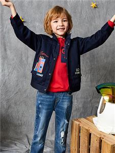 红蜻蜓童装新款黑色外套