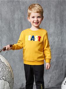 红蜻蜓童装新款印花卫衣