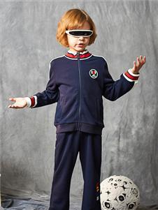 红蜻蜓童装新款藏青色卫衣