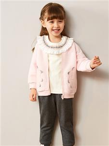 红蜻蜓童装新款粉色外套
