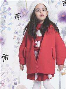 水孩儿2019女童红色韩版外套