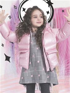 水孩儿2019粉色羽绒服