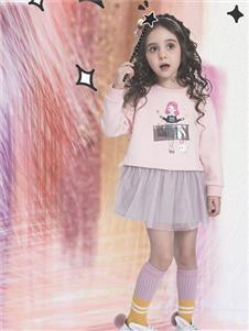 水孩儿女童新款粉色裙装