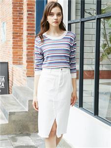 容悦女装Loyer.Mod容悦清新时尚半裙