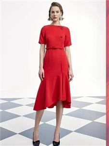 歌中歌女装SongofSong歌中歌红色连衣裙