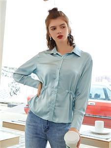 贝珞茵女装2019浅蓝色衬衫