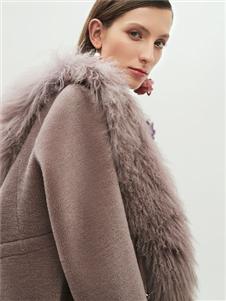 2019HON.B红贝缇时髦灰色大衣