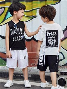 嗒嘀嗒童装新款无袖T恤