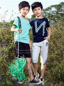 嗒嘀嗒童装新款纯色T恤