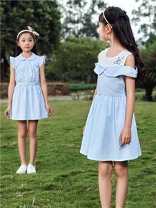 嗒嘀嗒童装夏季新款无袖连衣裙