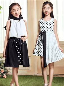 嗒嘀嗒童装夏季新款时尚连衣裙