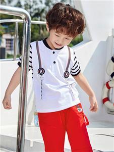 嗒嘀嗒童装夏季新款白色T恤