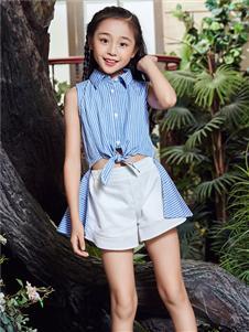 嗒嘀嗒童装夏季新款衬衫