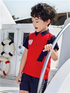 嗒嘀嗒童装夏季新款POLO衫