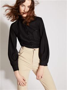 2019芮玛黑色衬衫