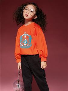 玛玛米雅新款橙黄色卫衣