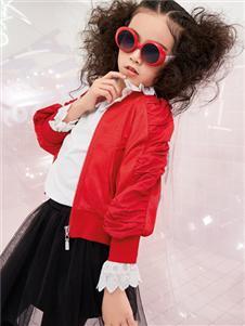 玛玛米雅秋季新款红色外套