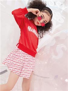 瑪瑪米雅秋季新款紅色衛衣