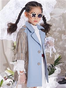 玛玛米雅秋季新款女童风衣