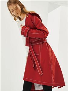 2019麗芮女裝紅色風衣