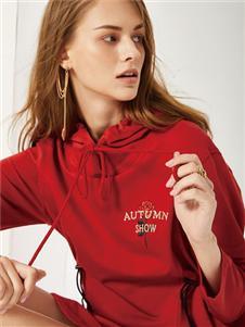 2019麗芮女裝紅色衛衣