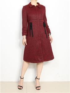 殿秀女装新款红色外套