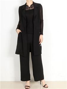 殿秀女装黑色OL套装