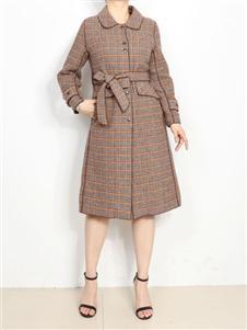 殿秀女装新款格子外套