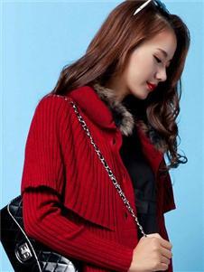 殿秀女裝新款紅色外套