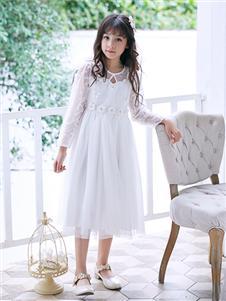 嗒嘀嗒新款白色连衣裙