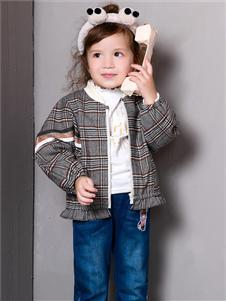 铅笔俱乐部新款格子外套