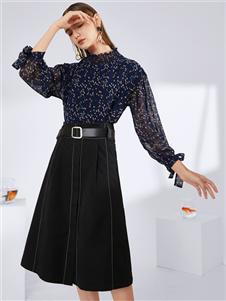 真斯贝尔新款收腰时尚半身裙