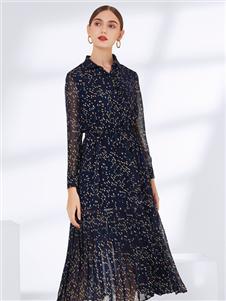 真斯贝尔新款印花裙