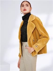 真斯贝尔秋冬新款毛绒大衣