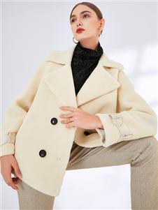 真斯贝尔新款时尚呢大衣