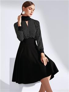 真斯貝爾新款黑色半身裙