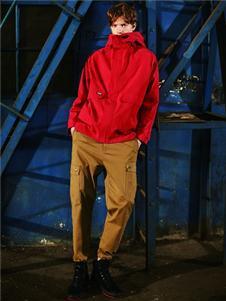 EGOU红色外套