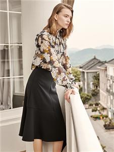 迪笛歐秋冬新款黑色半裙