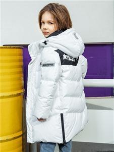 暇步士秋冬新款白色羽绒服