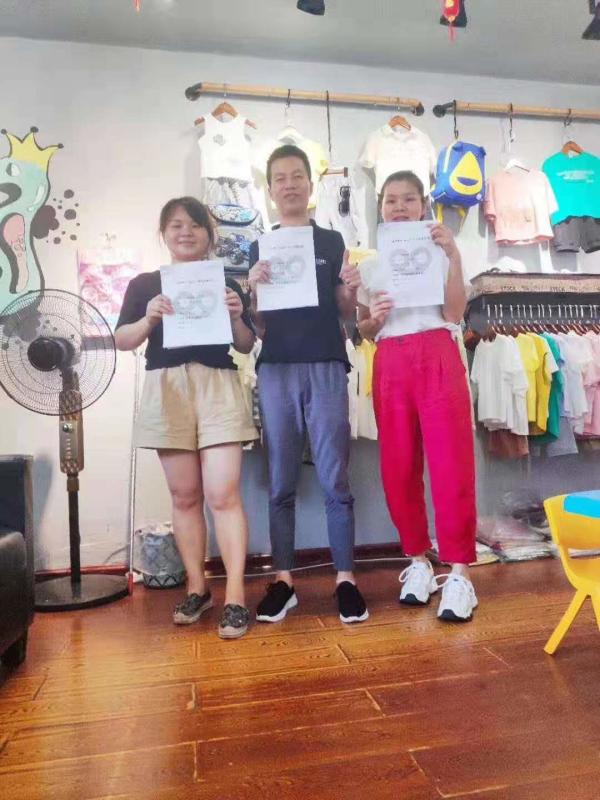 热烈欢迎长沙县苏总、夏总加盟金果果童装!
