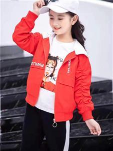 动漫童话秋冬新款红色外套