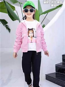 动漫童话秋冬新款粉色外套