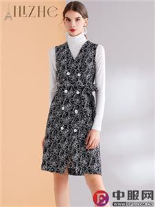 艾丽哲新款优雅气质连衣裙