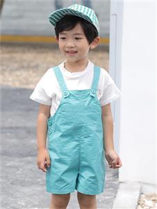 淘淘猫童装新款背带裤