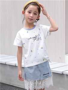 淘淘猫童装新款圆领T恤