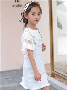 淘淘貓童裝新款背帶裙