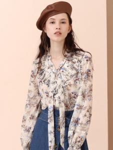 百图时尚女装秋冬新款雪纺上衣