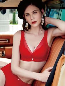 艾慕内衣秋冬新款红色